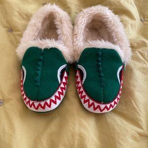 J.Crew crewcuts Alligator slippers 8/9